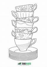 Coloring Tea Frogburps Cup sketch template