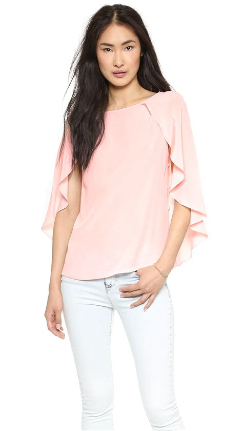 blush blouse lyst milly blouse blush in pink