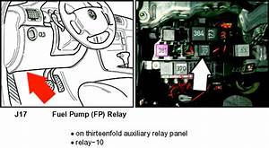 Where Is The Fuel Pump Relay Located On 2003 Passat