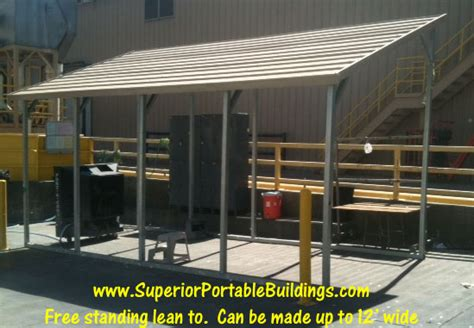free standing lean to shed s b carports inc lean tos 1 866 943 2264