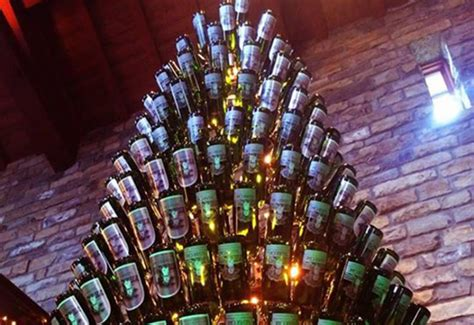 christmas tree made from wine bottles silver oak cellars creates tree made out of wine bottles metro news