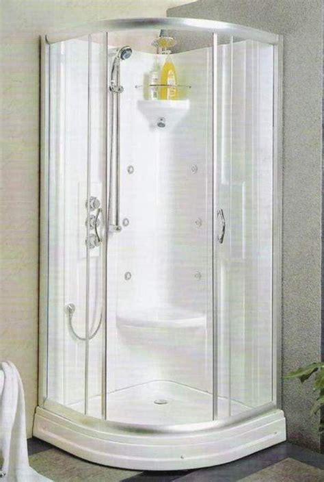 small bathroom corner shower stall goodsgn