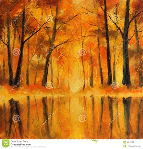 how to paint a l réflexion des arbres d 39 automne dans l 39 eau peinture