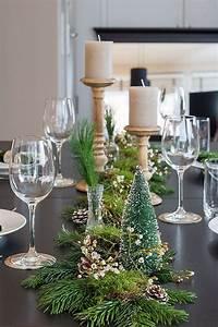 Esstisch Weihnachtlich Dekorieren : weihnachtstischdeko mit naturmaterialien deko pinte ~ Markanthonyermac.com Haus und Dekorationen