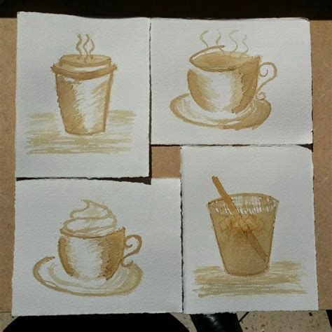 Cover your walls with artwork and trending designs from independent artists worldwide. Coffee Watercolor Paintings. Painted with Coffee   Coffee watercolor, Watercolor paintings, Coffee