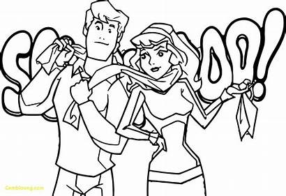 Coloring Scooby Doo Pages Mystery Daphne Fred