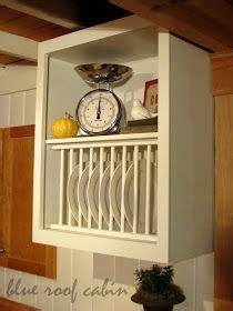 blue roof cabin cabinet plate rack cabinet plate rack plate racks diy plate rack