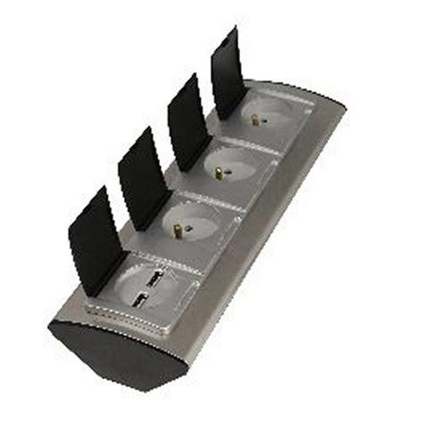 prise de bureau multiprise à câbler 3 prises aluminium lexman leroy merlin