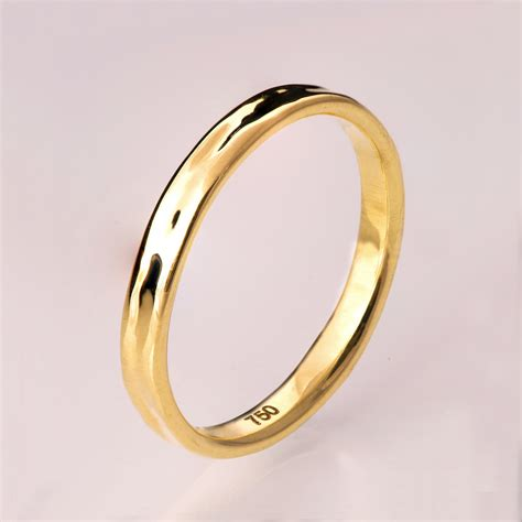 simple gold wedding band  gold ring unisex ring