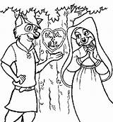 Robin Hood Coloring Pages Carving Tree Printable Getcolorings sketch template