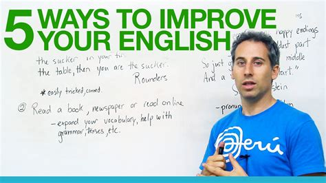 5 Great Ways To Improve Your English! Youtube