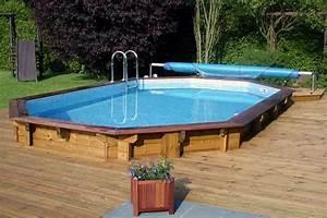 Piscine Semi Enterré Bois : piscine bois octogonale ~ Premium-room.com Idées de Décoration