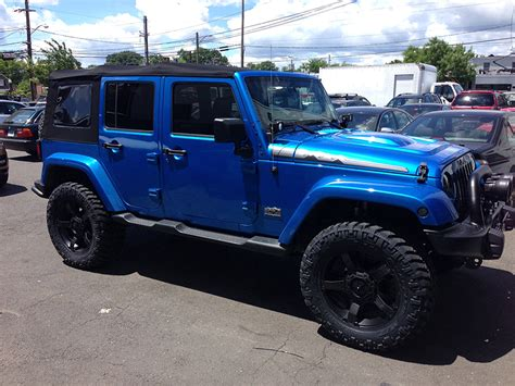 jeep blue and black jeep wrangler afterfx customs