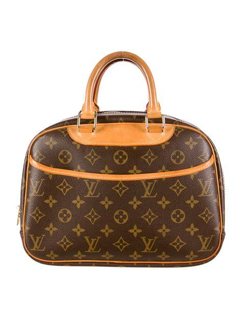 louis vuitton trouville bag handbags lou  realreal