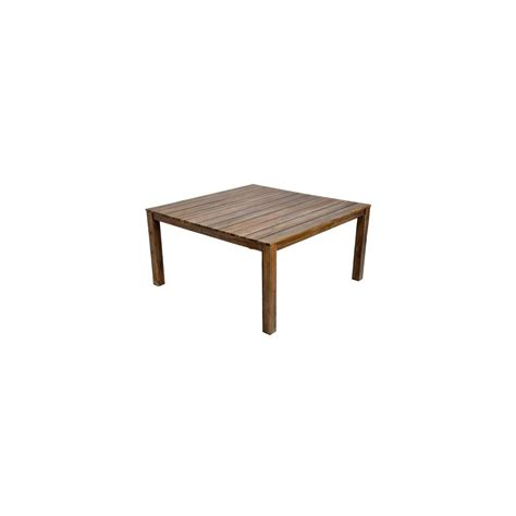 table carr 233 e cosmos en acacia fsc 150 x 150 cm taupe chocolat plantes et jardins