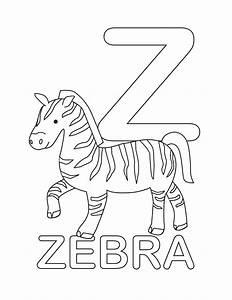 Alphabet Coloring Pages Letter Z - Letter Z Is For Zebra ...