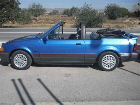ford escort xri cabriolet  car costa blanca spain