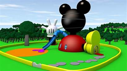 Mickey Clubhouse Mouse Background Wallpapersafari Backgrounds Wallpapers