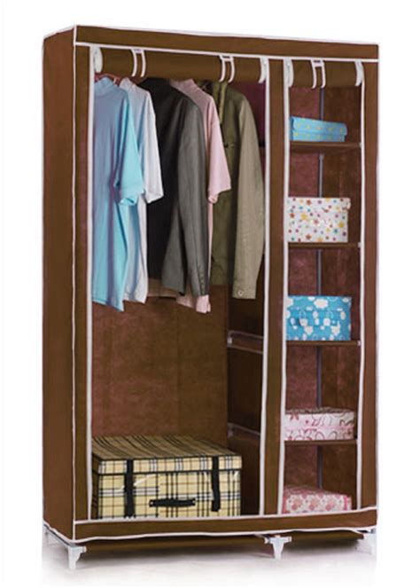 Wardrobe For Hanging Clothes by Vinsani Canvas Wardrobe Clothes Cupboard Hanging