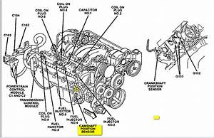 Grand Cherokee  Whereh Is The Cam Position Sensor Located On