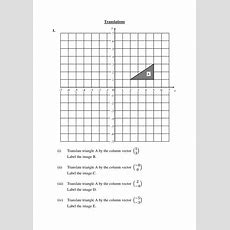 Translations Worksheet (transformation Of Shapes) By Langy74  Teaching Resources