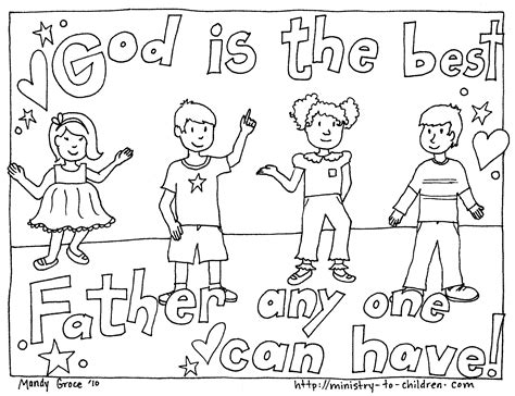 Christian Fathers Day Coloring Pages