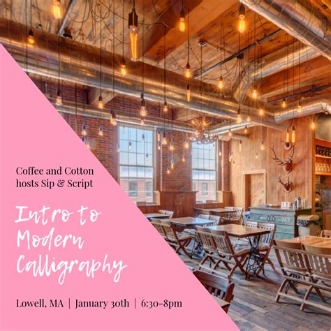 Coffee and cotton is located in mill no. Intro to Modern Calligraphy at Coffee and Cotton - Sip & Script