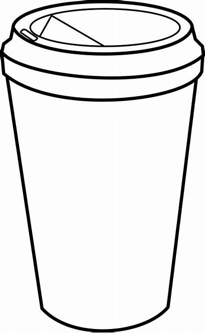 Paper Clipart Cup Coffee Clip Coloring Starbucks