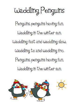 preschool penguin songs the busy kindergarten penguin word list 195