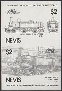 Nevis Leaders of the World 1985 3rd Series Locomotives 6 ...