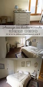 idee deco chambre mansarde finest chambre sous les With superior gris bleu peinture 5 fp bois