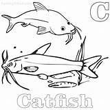 Catfish Coloring Pages Printable Getcolorings sketch template