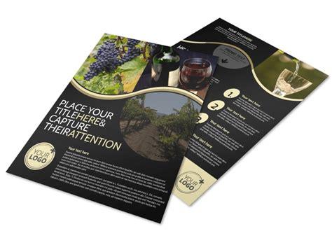 winery wine making flyer template mycreativeshop