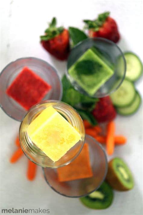 juice infused ice cubes melanie