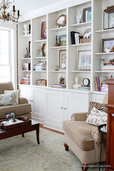 Living Room With Bookcases Ideas by Small House Solutions The Inspired Room