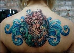 Little mermaid tattoo - Design of TattoosDesign of Tattoos