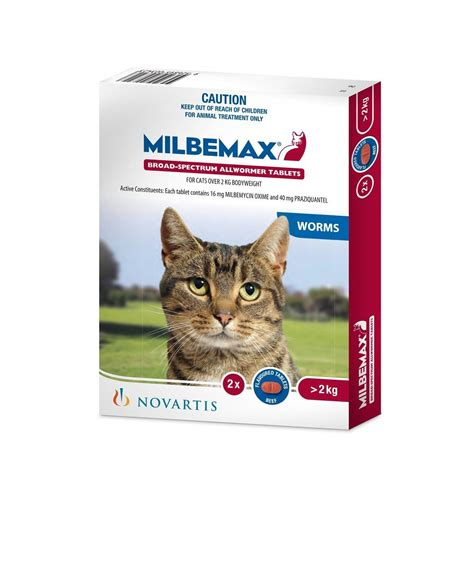 milbemax  wormer  cats large  kg  pack worm