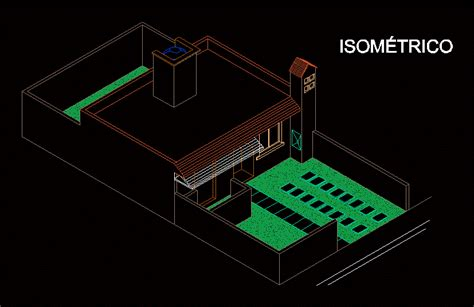 isometric house  dwg block  autocad designs cad