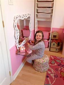 Diy Vanity For 5 Year Old Princess  Small Space Solution