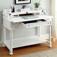 white secretary desk Lexden Traditional Secretary Computer Fold-Out Writing ...