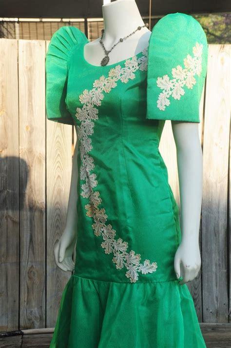 filipiniana vintage terno mestiza green filipino