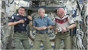World Cup: US and German astronauts act out goal ...