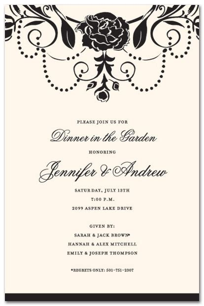 Fancy Dinner Invitation Template Cobypic com