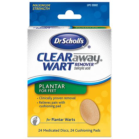 planters wart treatment clear away plantar wart remover and medicated treatment