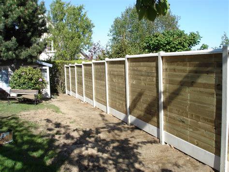Prix Cloture Jardin by Entreprise Cloture Jardin Cloture Beton Imitation Bois