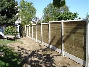Cloture De Jardin : emejing cloture de jardin beton imitation bois gallery ~ Premium-room.com Idées de Décoration