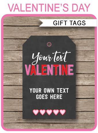 valentines day gift tags template printable gift tags