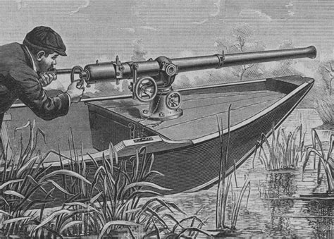 Large Punt Boat For Sale by A Punt Gun Used For Duck Hunting But Were Banned Because