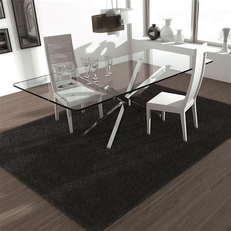 table en verre but table en verre design pieds en croix sur cdc design