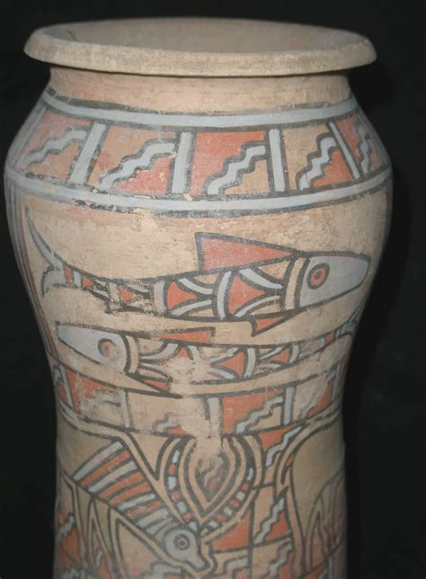 indus valley painted vase fired pottery